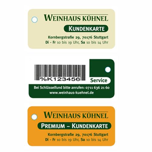 Clever sparen beim Wein kaufen mit der Kundenkarte.