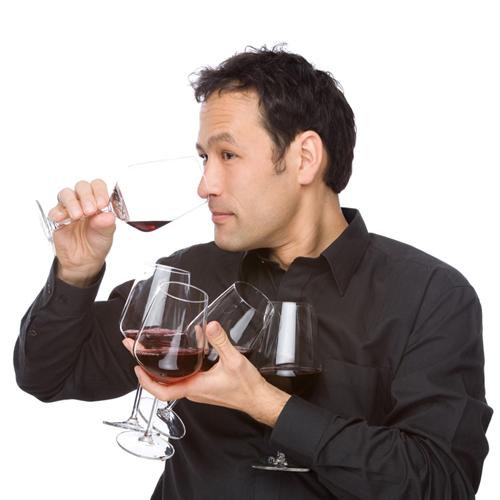 Die Vorauswahl im Weinhaus Kühnel